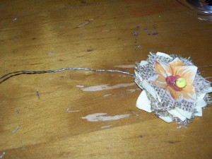 how to make burlap flowers step 9