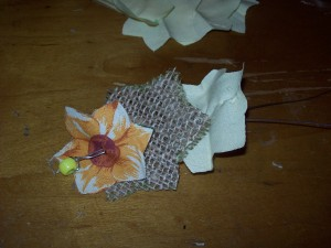 how to make burlap flowers step 7