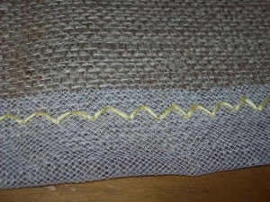 diy burlap tablecloth