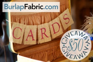 Burlap Fabric $50 Giveaway - Main