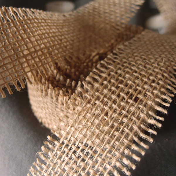 "1.5"" Natural Burlap Ribbon - 10 Yards (Frayed Edges)"