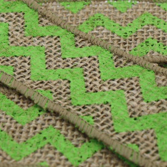 "1.5"" Lime Green Chevron Burlap Ribbon - 10 Yards"