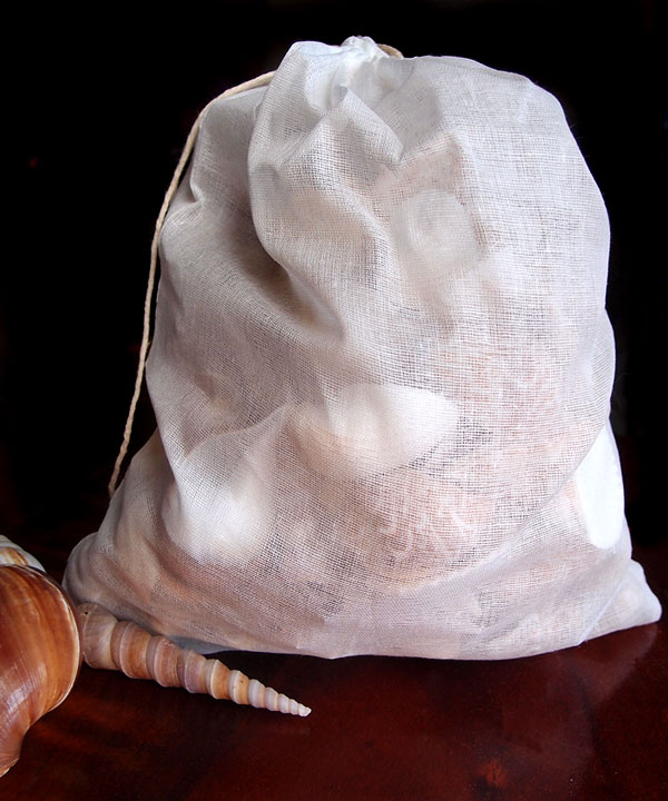 "Cheesecloth Bags with Cotton Drawstring 10"" x 12"" (12 pk)"