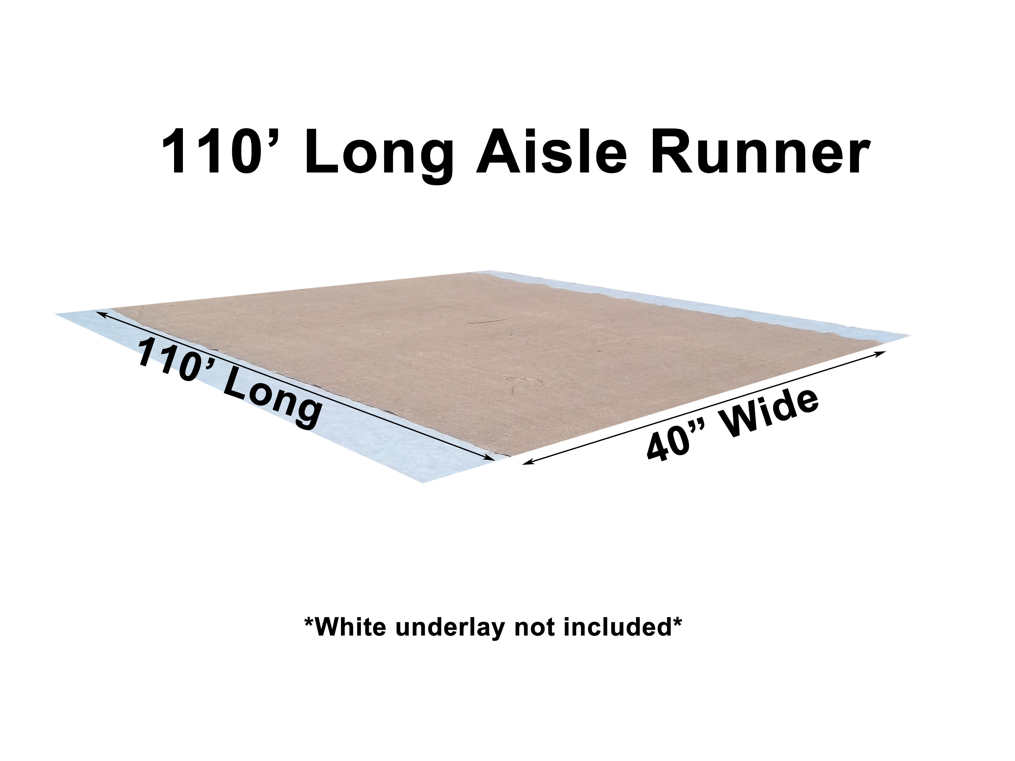 "40"" Wide Burlap Aisle Runner 110ft"