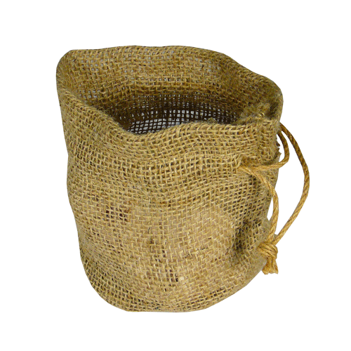 "11"" x 9"" x 6"" Jute Bag with Round Bottom"