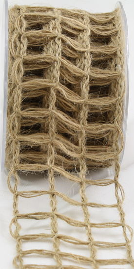 "2.5"" Net Natural Burlap Ribbon - 10 Yds"