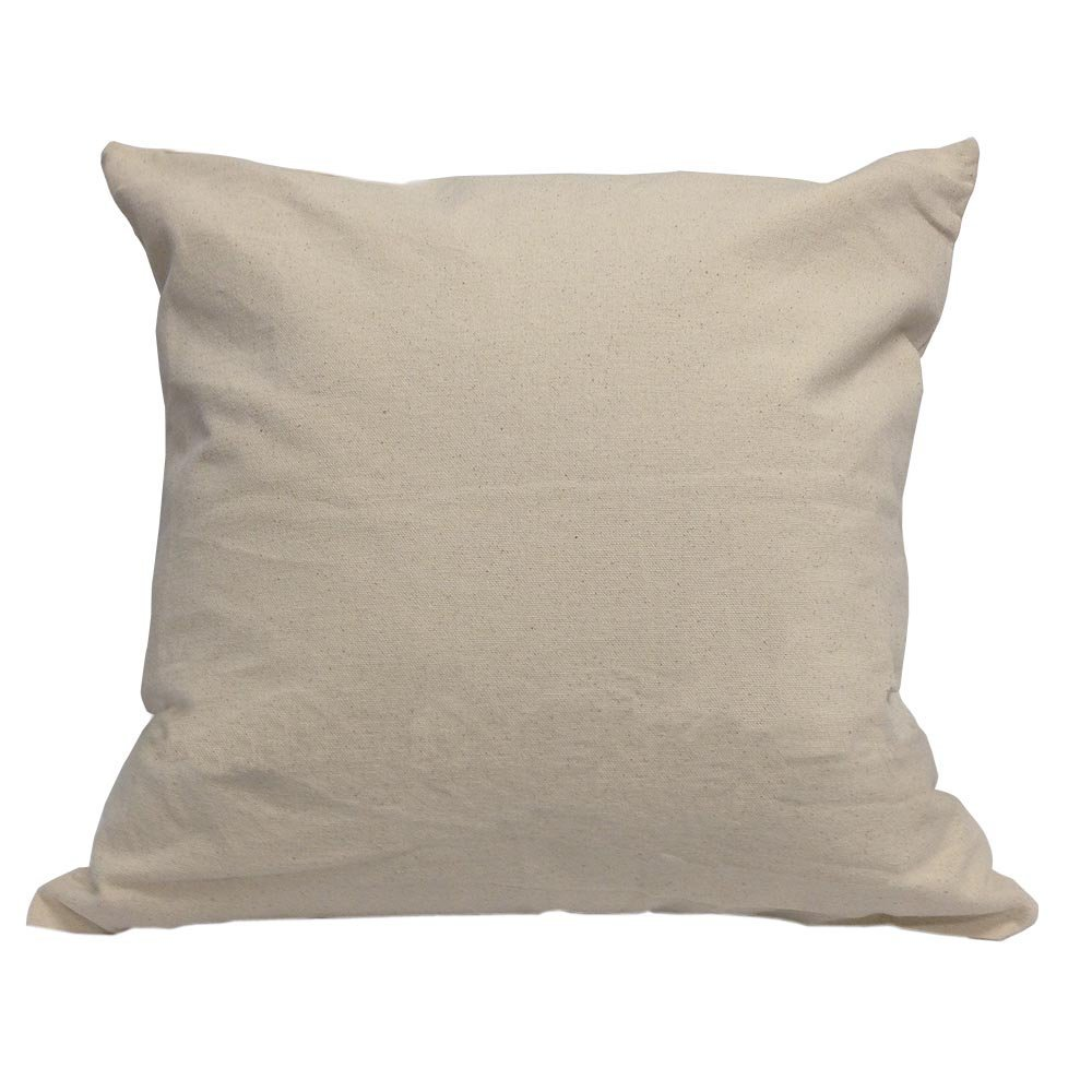"20"" x 20"" Canvas Pillow Case With Zipper"