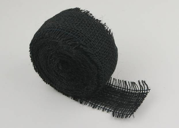 "2.5"" Black Burlap Ribbon - 10 Yards (Frayed Edge)"