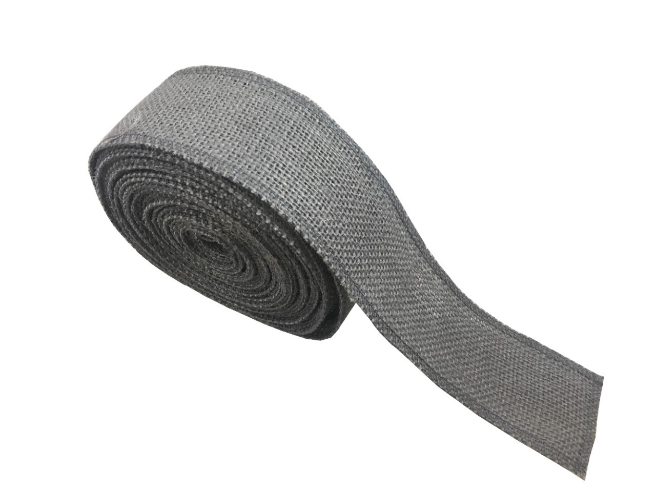 "2"" Charcoal Grey Burlap Ribbon - 10 Yards (Serged)"