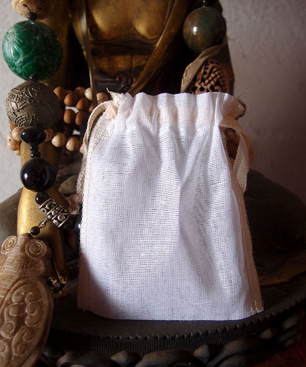 "Cheesecloth Bags with Ivory Serged Edge 3"" x 4"" (12 Pk)"