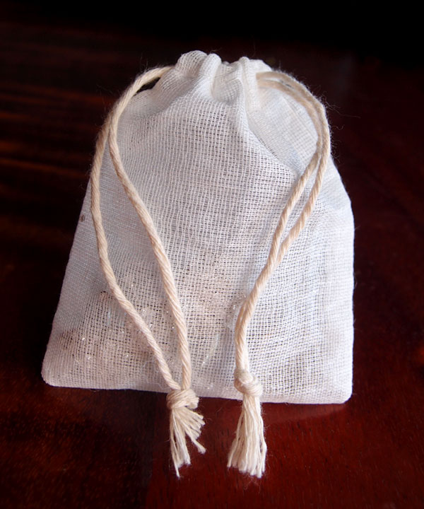 "Cheesecloth Bags with Cotton Drawstring 3"" x 4"" (12 pk)"