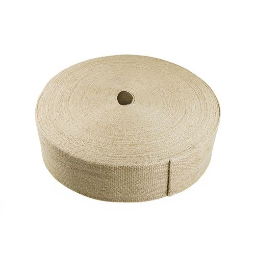 "3.5"" Wide Natural Plain Jute Webbing - 36 Yard Roll"