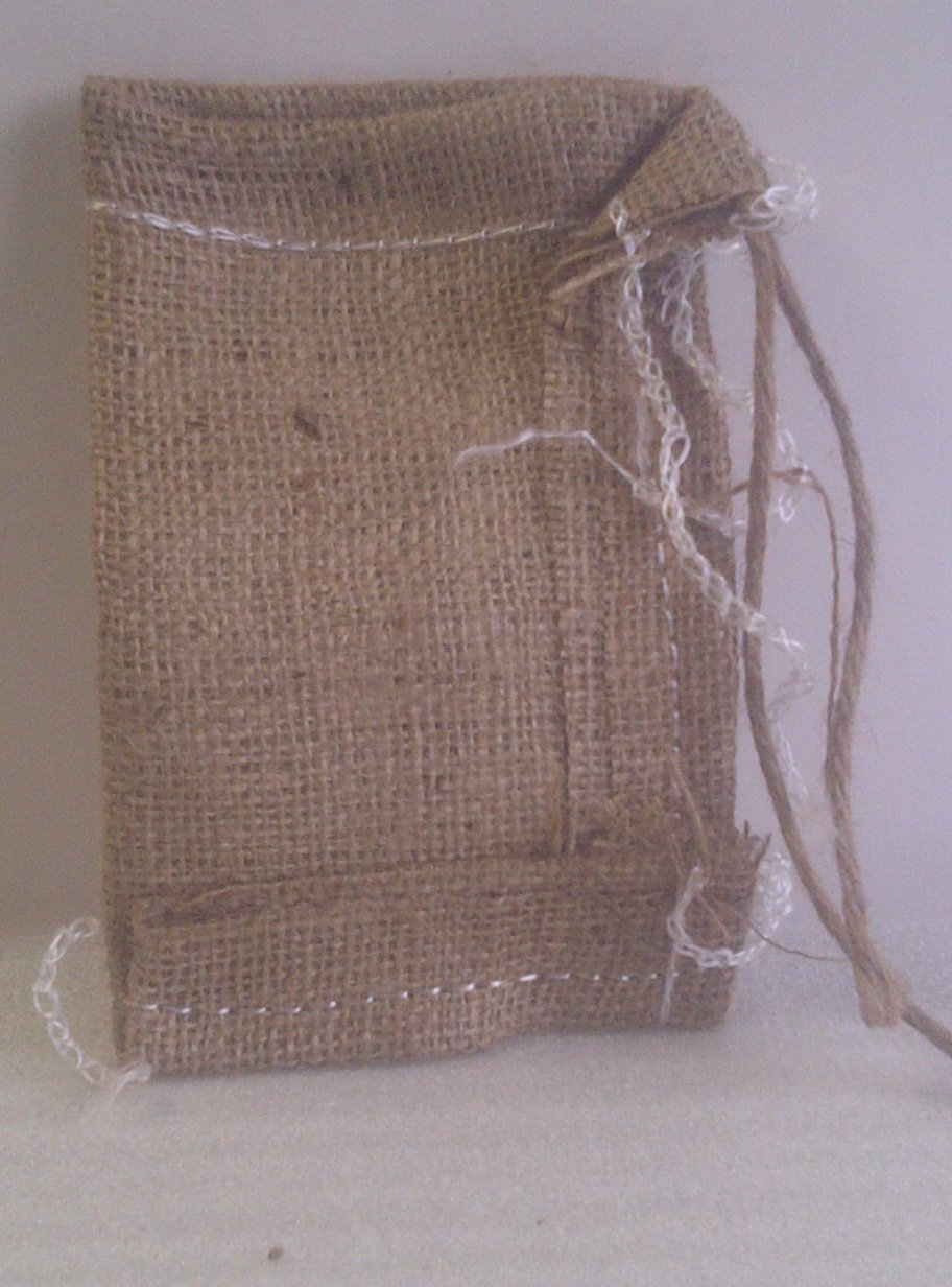 "4""x6"" + Drawstring (Jute) - Bundle of 25"