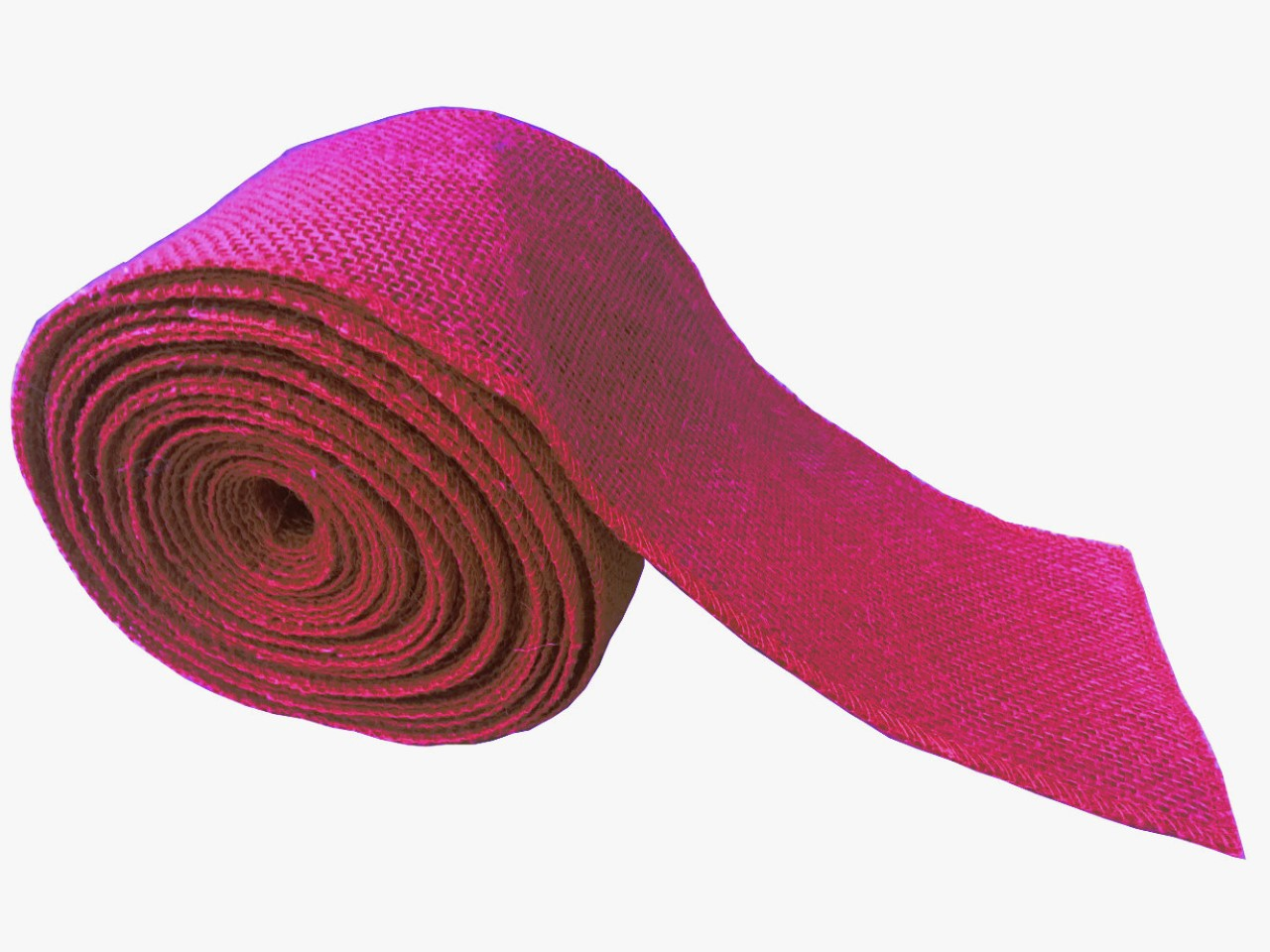 "4"" Fuchsia Burlap Ribbon - 10 Yards (Sewn Edges)"