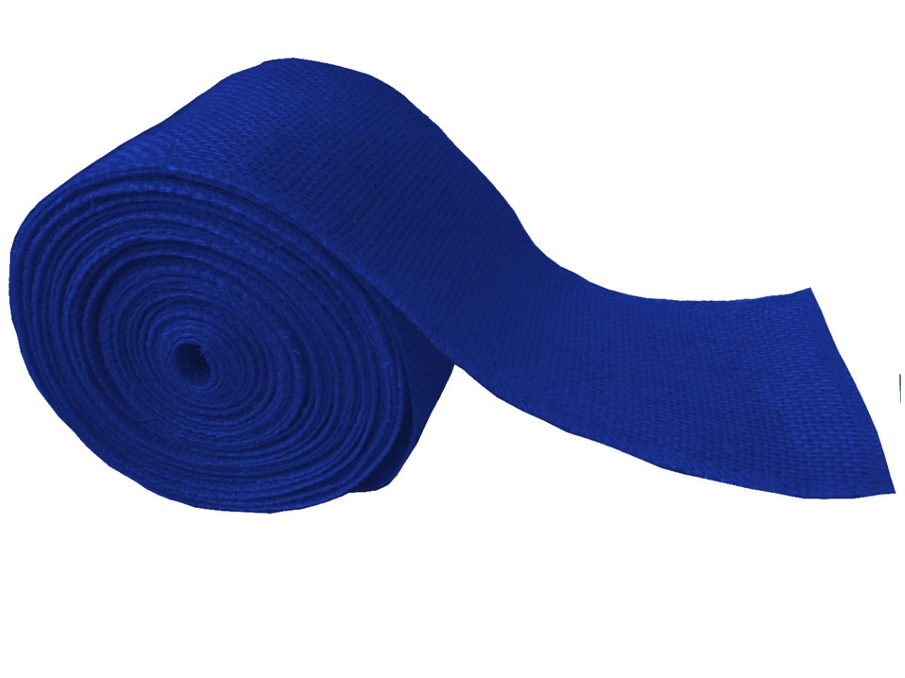 "4"" Royal Blue Burlap Ribbon - 10 Yards (Sewn Edges)"