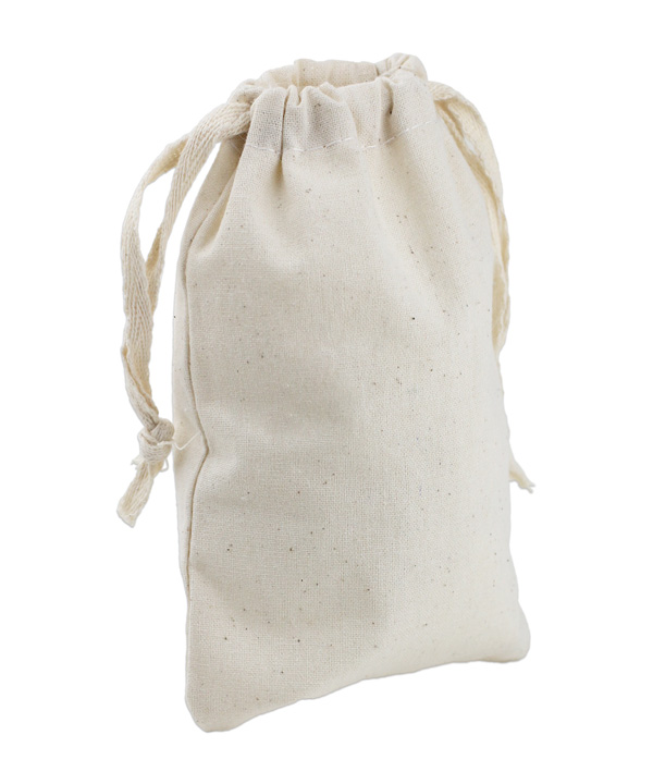 "5.75"" X 9.75"" Muslin Bags With Cotton Drawstring (12 PK)"