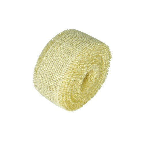 "2.5"" Off White Jute Ribbon - 10 Yards (Sewn Edges)"