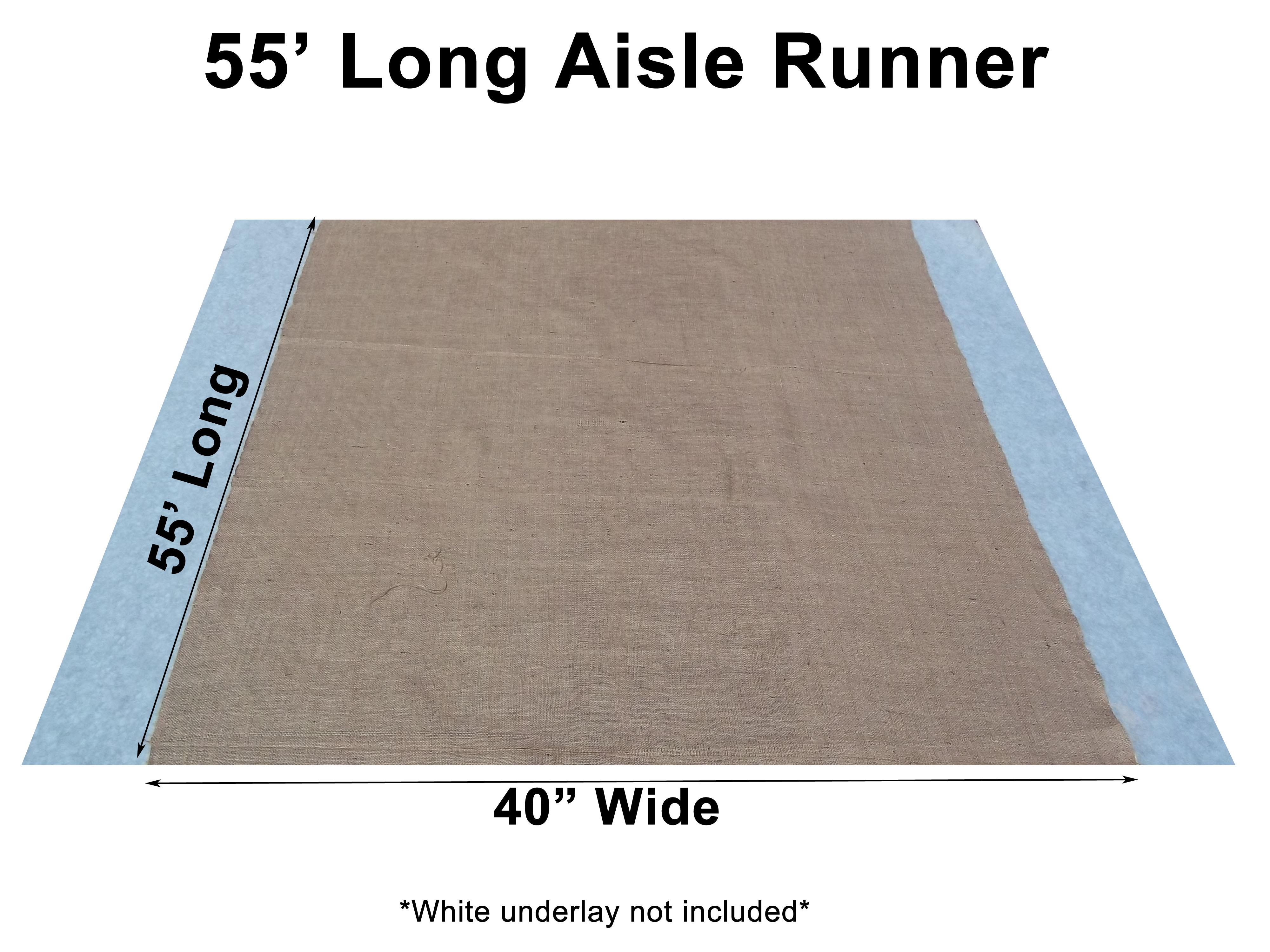 burlap aisle runners wedding runners 40 Inch Width Burlap Aisle Runner 55 Feet