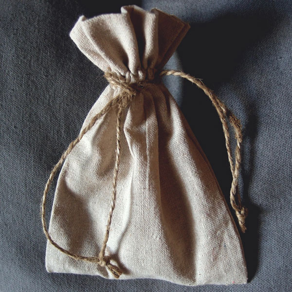 5 x 7 Linen Favor Bag with Jute Draw (dozen)