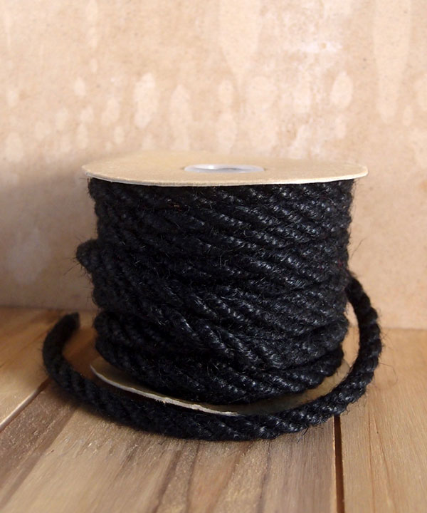 6mm Black Jute Twine 10 Yards