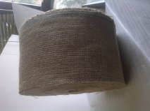 "6"" or 7"" 10oz burlap natural - 100 yard roll (possible stripe)"