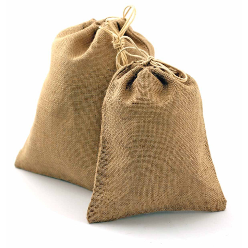 "8"" x 12"" Natural Burlap Bag with Drawstring (12/pk)"