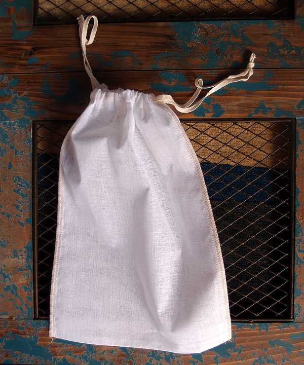 "Cheesecloth Bags with Ivory Serged Edge 10"" x 12"" (12 Pk)"