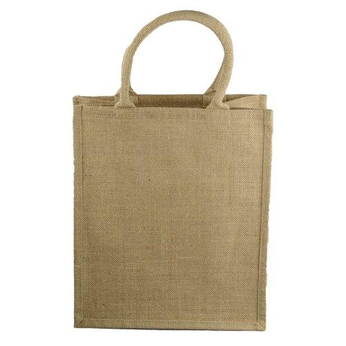 12 X 8 14 Natural Burlap Tote Wine Bag W Dividers