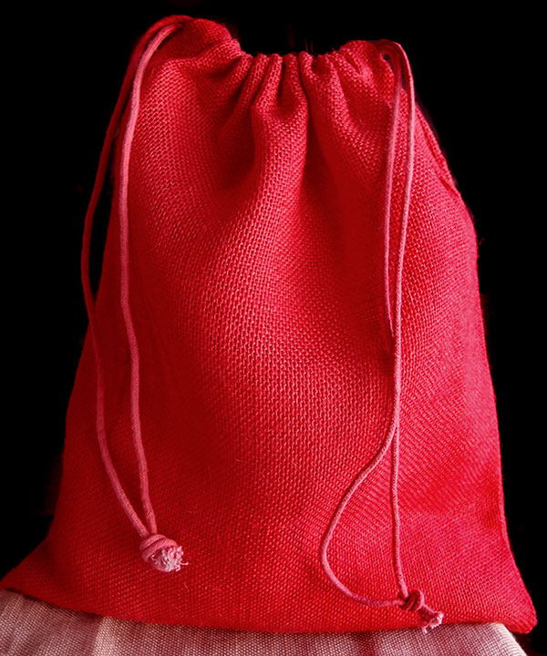 "Red Burlap Bags 12"" x 14 - (10 Pack)"