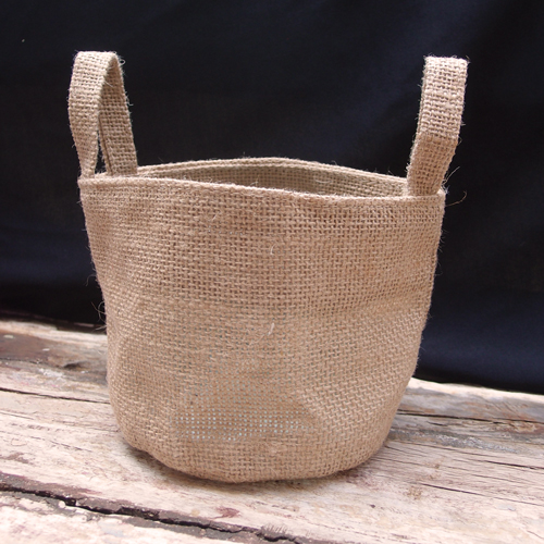 "4.5"" x 4.5"" Burlap Bag - Pot Cover"