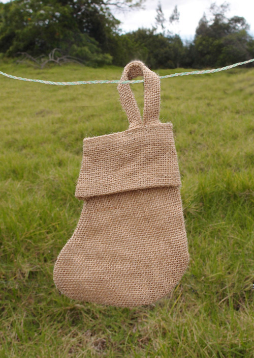 "6""W x 5""H Burlap Stocking"