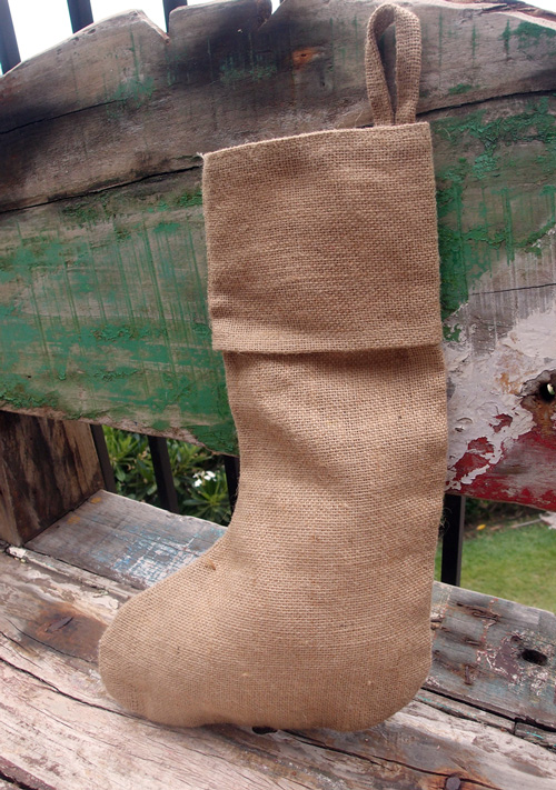 "Burlap Stocking - 10""W x 16""H"