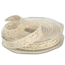 "1/2"" x 10 Yd Ivory Crochet Ribbon"