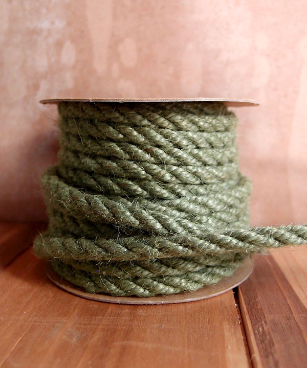 6mm Moss Green Jute Twine 10 Yards