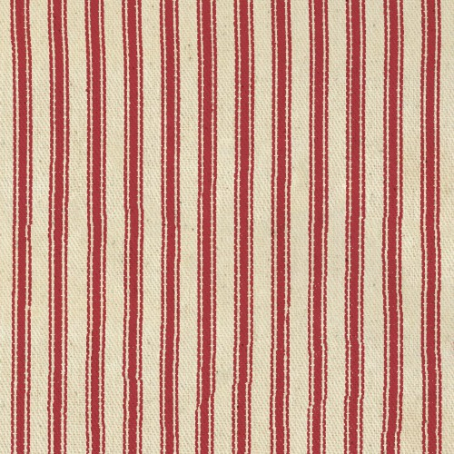 "44/45"" Red Stripe Ticking Fabric - Per Yard"