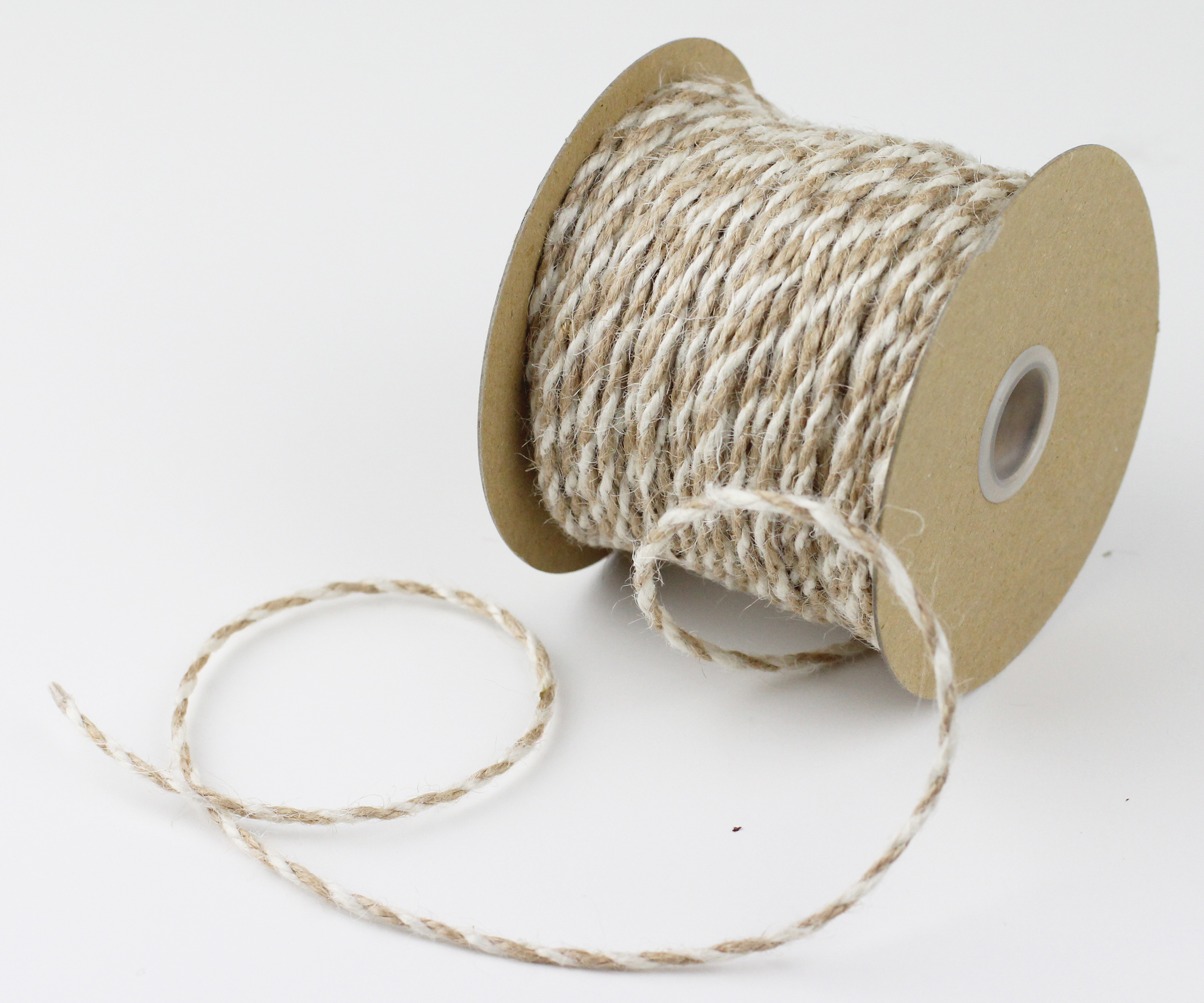 2.5 mm Ivory/Natural Jute Twine - 50 Yards
