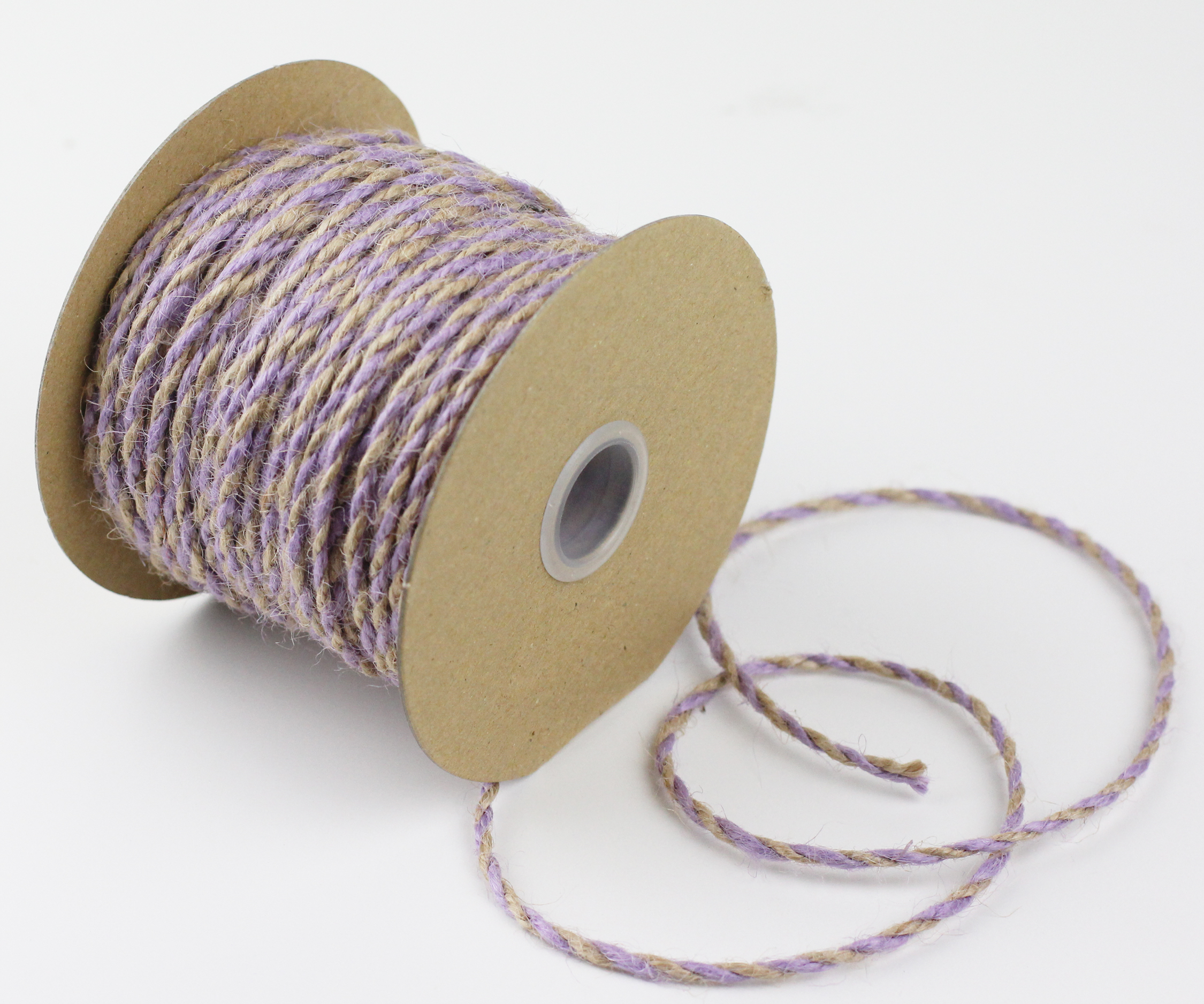 2.5 mm Lavender/Natural Jute Twine -50 Yards