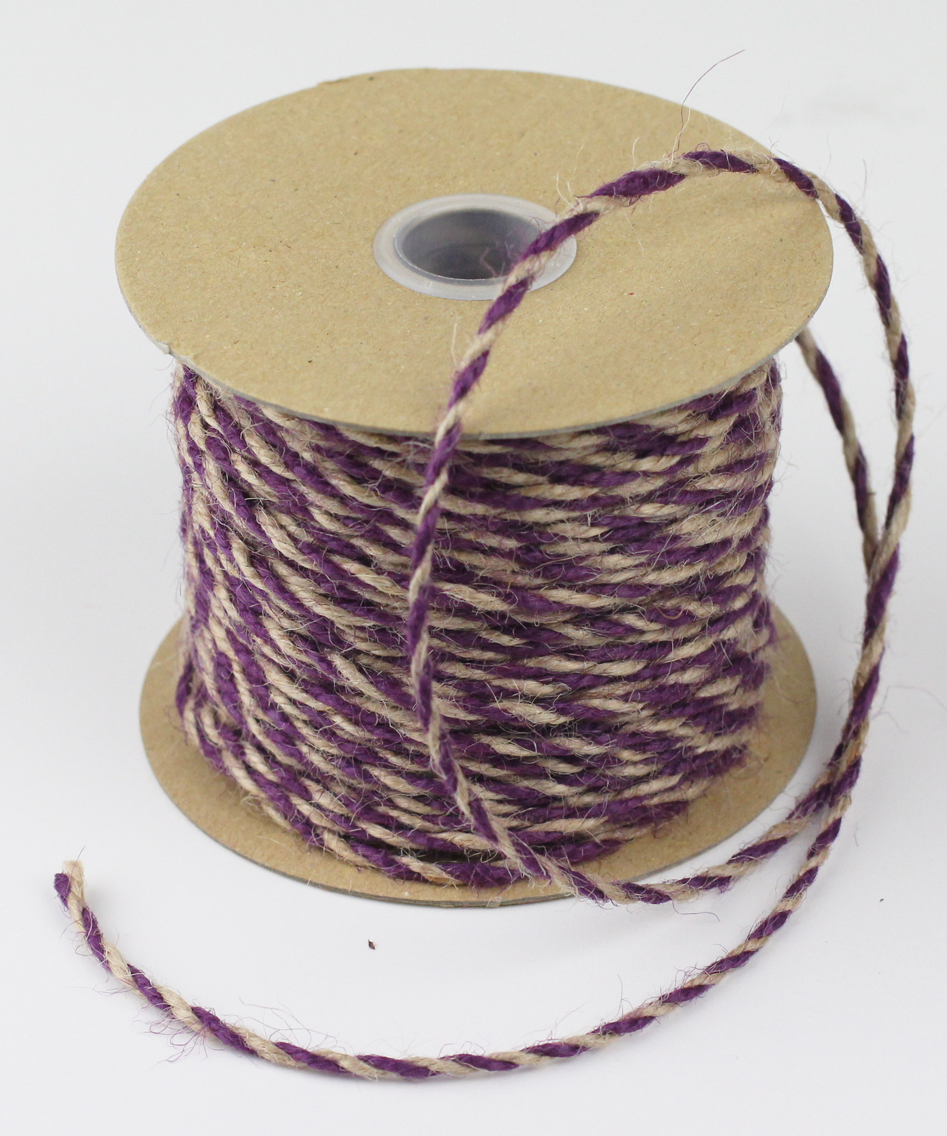 2.5 mm Purple/Natural Jute Twine - 50 Yards
