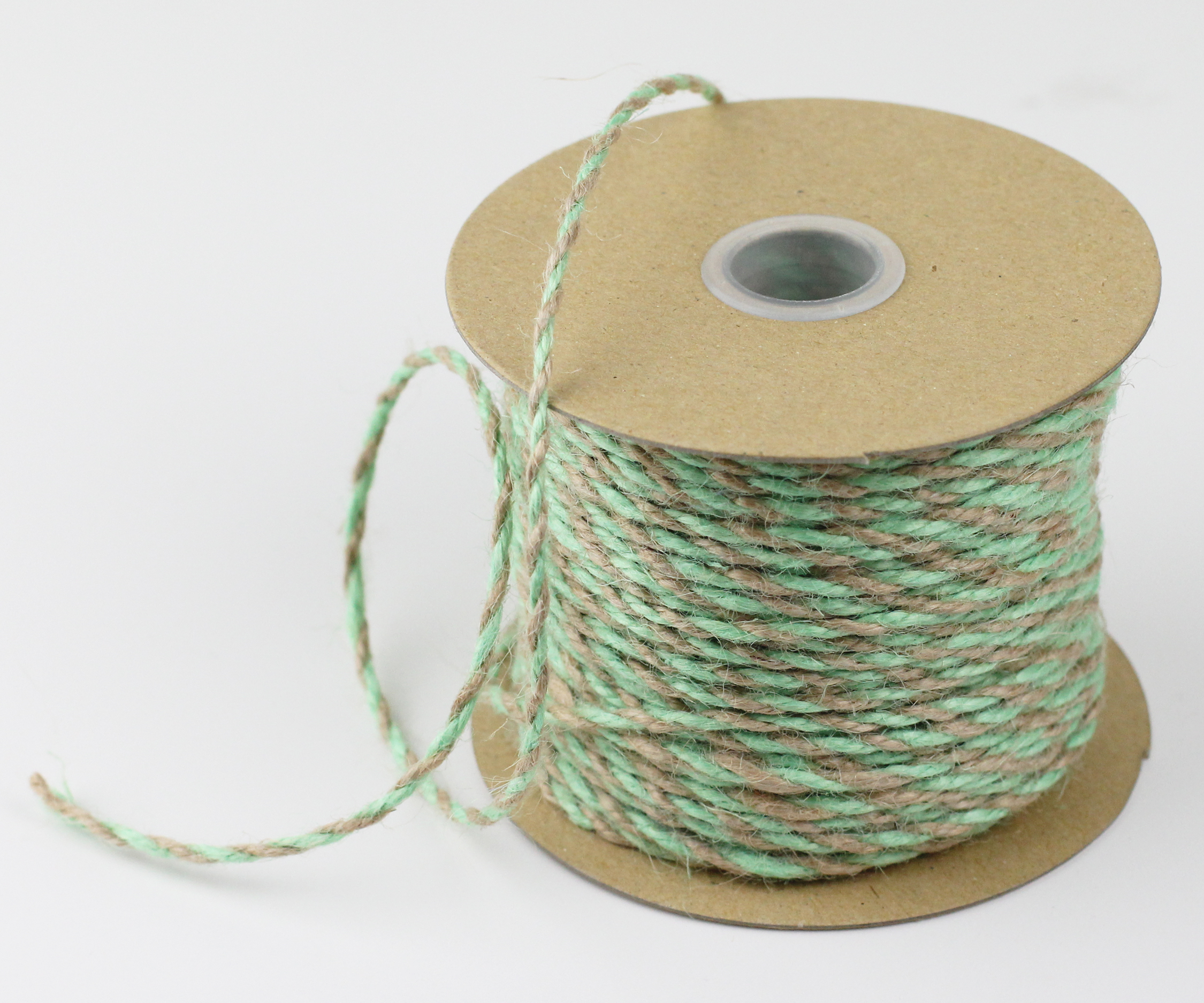 2.5 mm Mint/Natural Jute Twine - 50 Yards