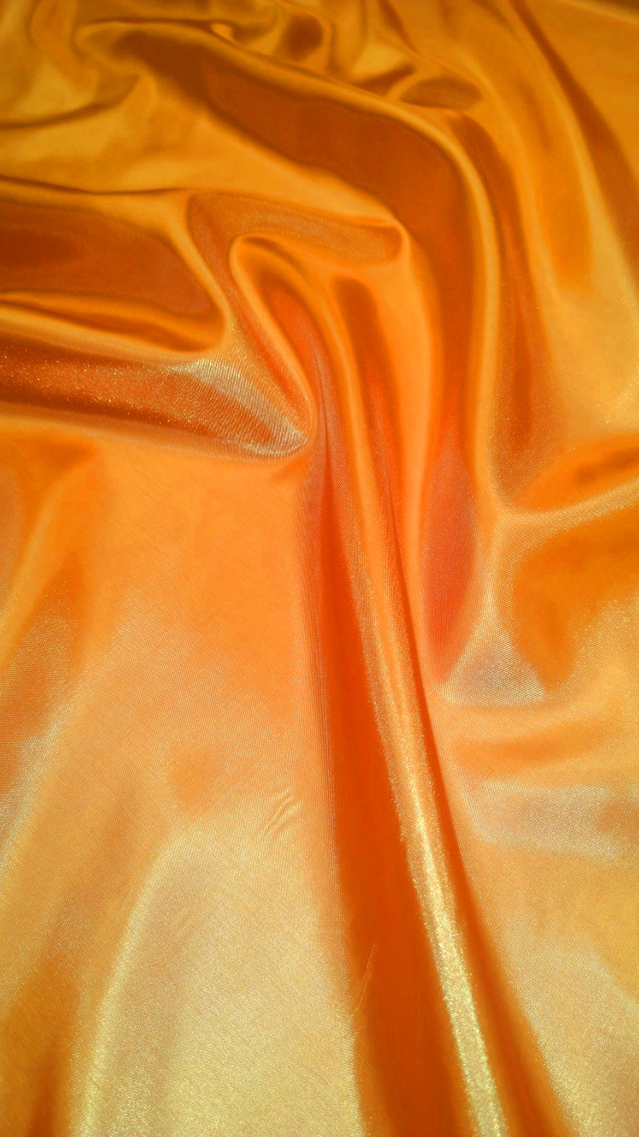 "Orange Habotai Fabric 60"" - By The Yard"