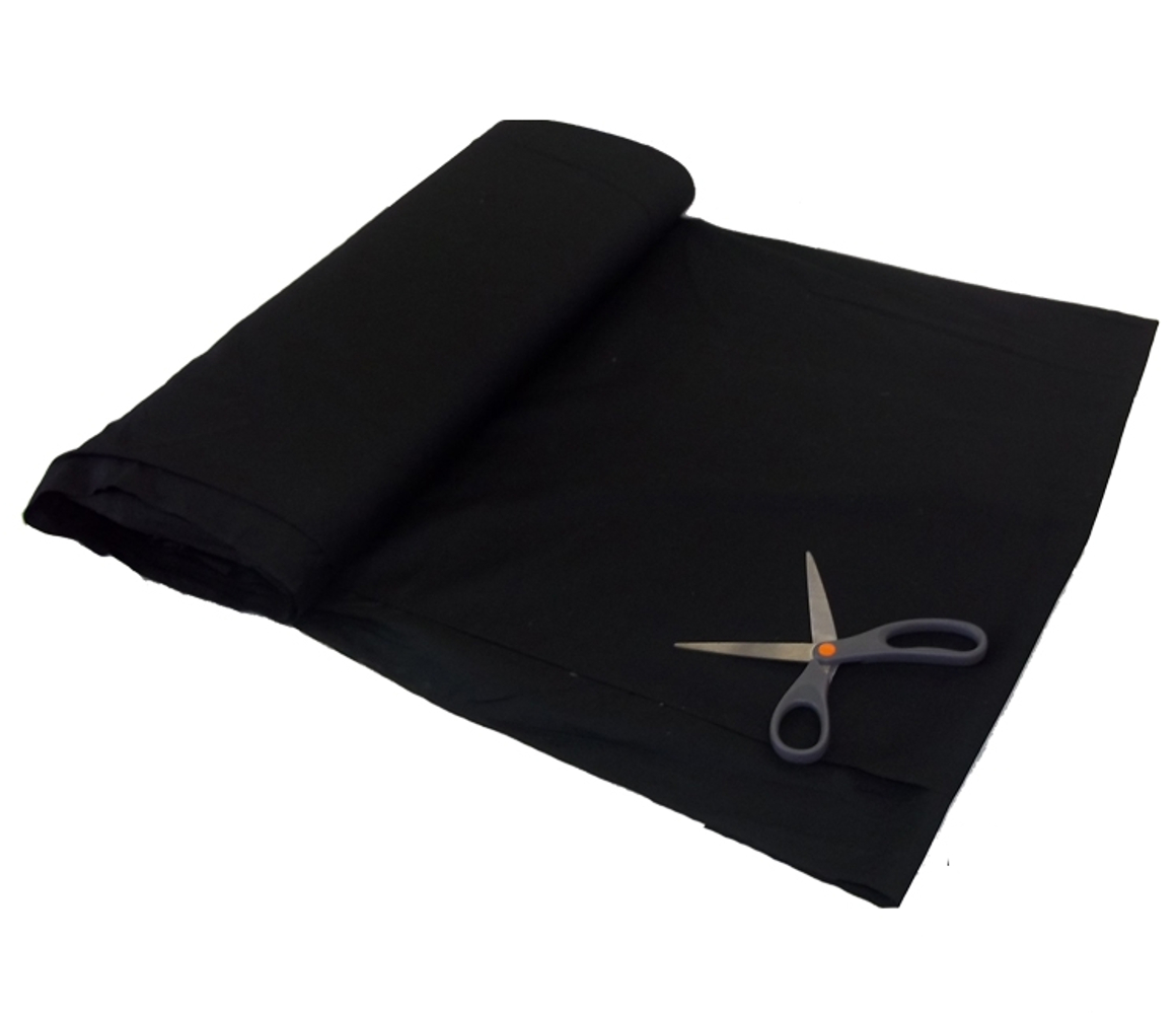 "Black Broadcloth Fabric 45"" - Per Yard"