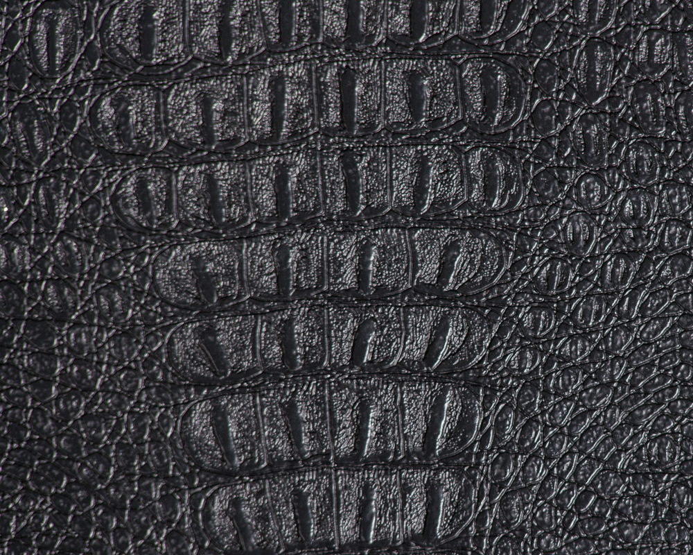 "54"" Black Gator Faux Leather Fabric - By The Yard"