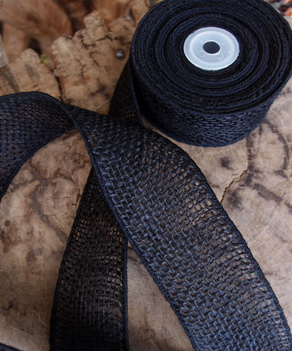 "2"" Wired Black Ribbon - 10 Yards"