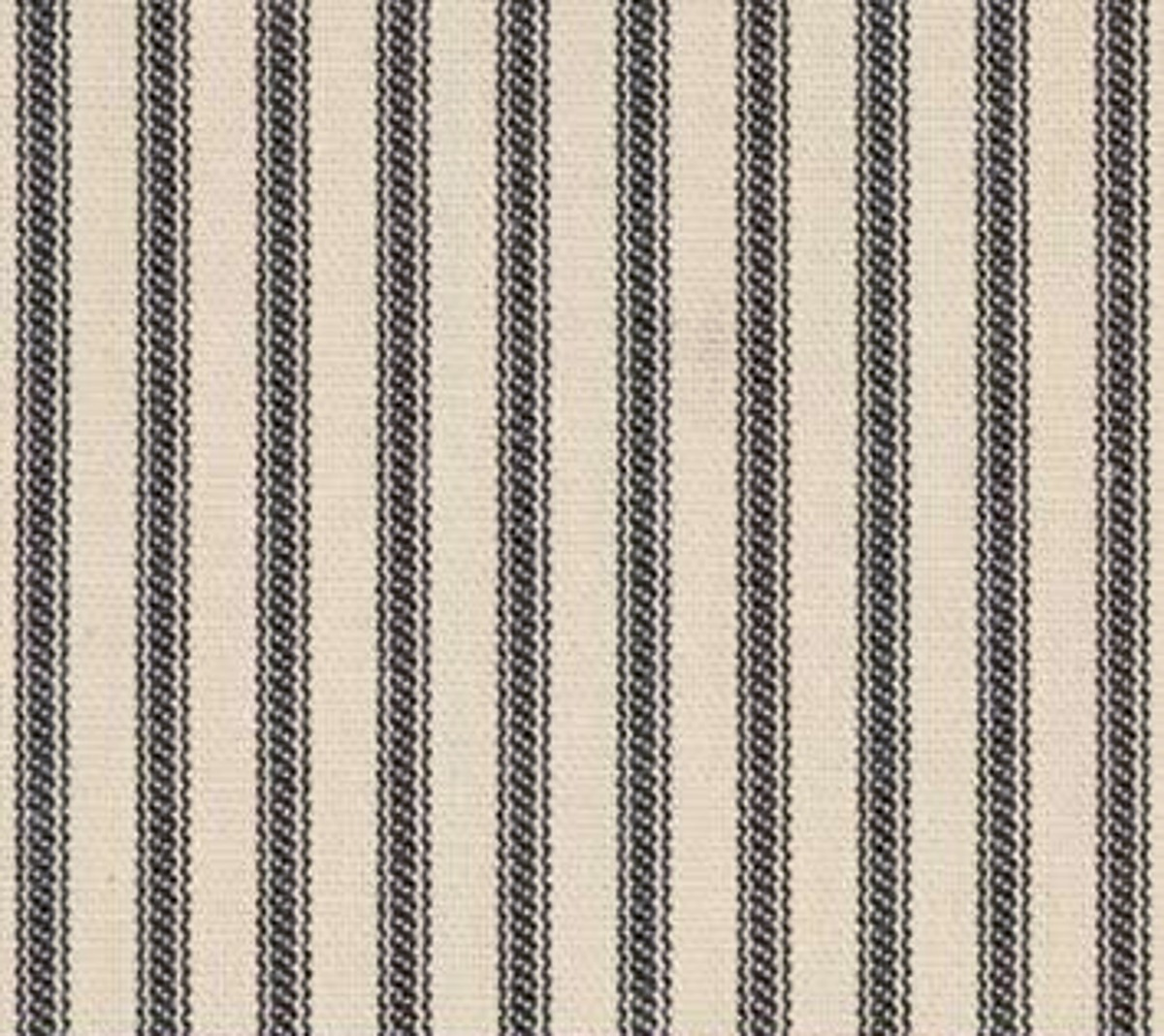 "54"" Black Stripe Ticking Fabric - Per Yard"