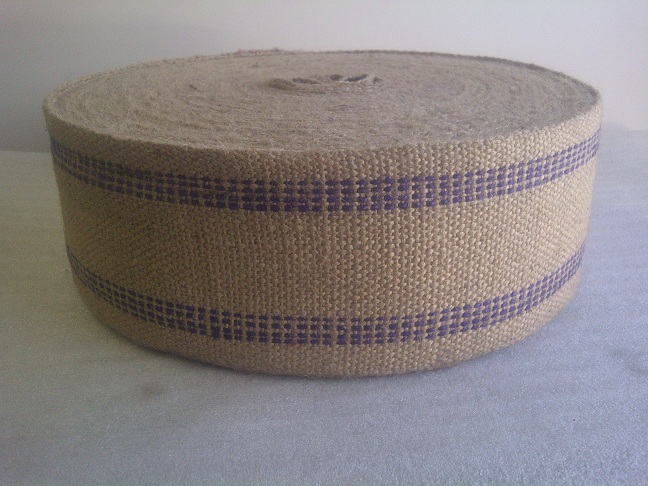 Blue Jute Webbing - 10 Yards