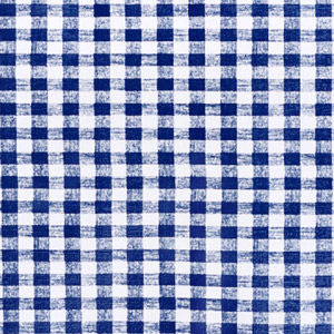 "54"" Blue Gingham Vinyl with Flannel Back - 4 Yards"