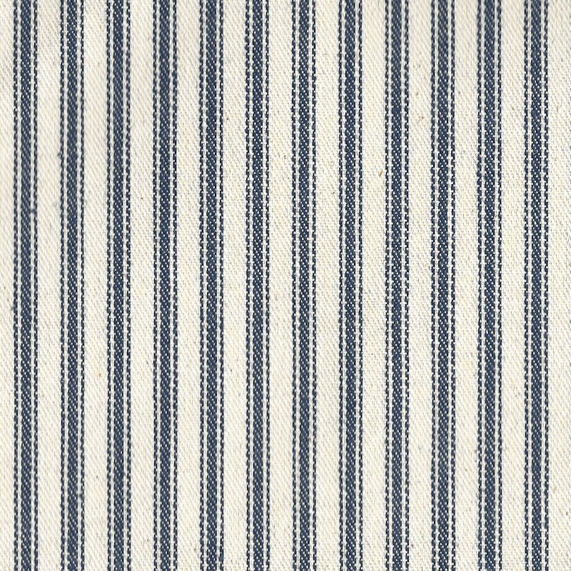 "44/45"" Blue Stripe Ticking Fabric - Per Yard"
