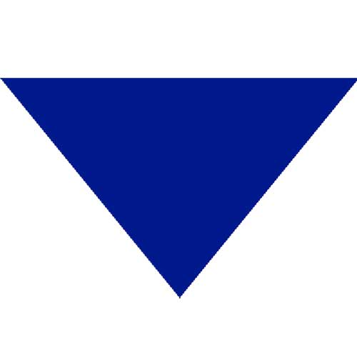 "Blue Triangle Bandanas 22"" x 22"" x 30"" (12 Pack)"