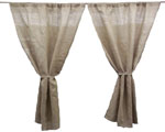 "ONE Panel of 60"" W x 120"" H Burlap Drapes"
