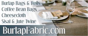 burlap fabric and rolls